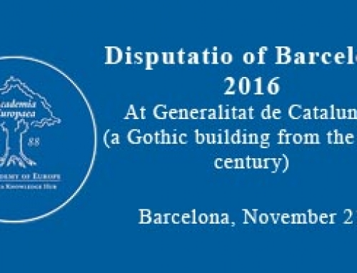 Disputatio of Barcelona 2016